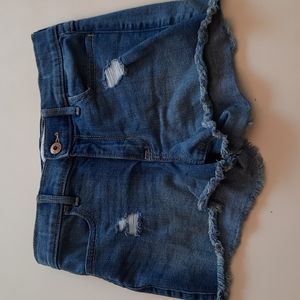Abercrombie Kids 11 12 high rise shortie shorts